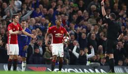足总杯切尔西1-0曼联进四强 埃雷拉染红坎特破门