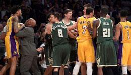 NBA处理雄鹿紫衫军冲突 涉事三将共罚七万五