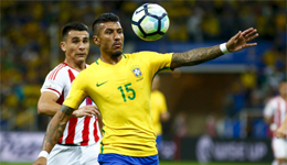 世预赛-暴力鸟2助攻内马尔破门 巴西3-0巴拉圭