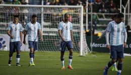 世预赛-梅西禁赛四场 阿根廷无梅西0-2玻利维亚