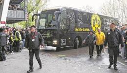 多特蒙德大巴遭爆炸袭击 比赛宣布取消