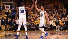 NBA季后赛勇士VS开拓者 4巨头95分勇士开门红