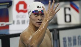 孙杨自由泳1500米夺冠 轻松收入冠军赛第五金