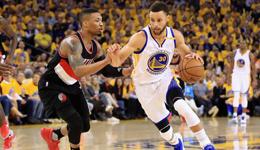 NBA季后赛勇士VS开拓者 双枪变哑炮勇士大胜2-0