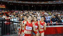 中国田径接力创纪录 女子接力锦标赛获第三