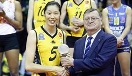 朱婷赴国外打球首战欧冠夺MVP 最佳8人3人来自美国