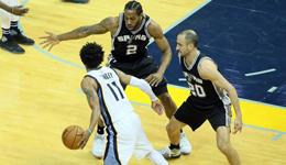NBA季后赛马刺VS灰熊 马刺4-2晋级将战火箭