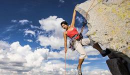 国外户外极限运动视频合集八 美女攀岩红色岩石峡谷