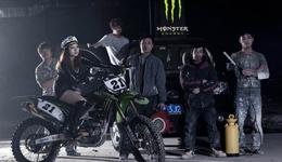 MonsterEnergy赛车漂移甩尾表演 赛车比赛高清大全视频