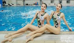2017花样游泳运动员高清照片 花样游泳运动员夺冠秀腿