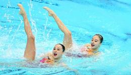2017全运会游泳预选赛 天津全运会花样游泳双人预赛