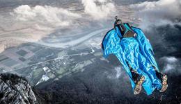 国外户外极限运动视频 极限攀岩翼装飞行达人