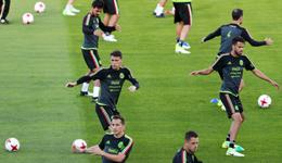墨西哥队训练备战联合会杯 2017俄罗斯联合会杯