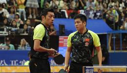 2017中国乒乓球公开赛 樊振东/许昕vs何钧杰/黄镇廷