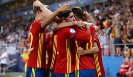 2017欧青赛半决赛 西班牙3-1意大利队