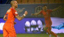 2017中超联赛第16轮 天津泰达0-2输给山东鲁能