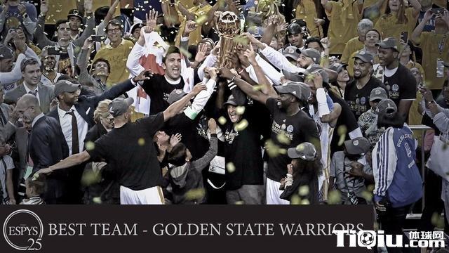 ESPY完整获奖名单:韦少最佳男运动员 勇士最佳团队
