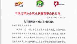 AFC称中国18家俱乐部涉嫌拖欠费用 或取消亚冠资格