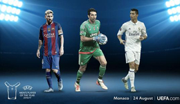 欧足联公布赛季最佳球员候选 梅西布冯C罗在列