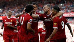 17-18赛季英超联赛 利物浦主场4-0阿森纳