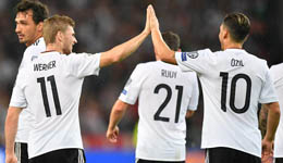 厄齐尔传射维尔纳双响 世预赛德国6-0横扫挪威