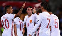 莫拉塔2球伊斯科席尔瓦建功 世预赛西班牙8-0领跑