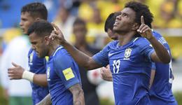 威廉世界波法尔考扳平 世预赛巴西1-1哥伦比亚