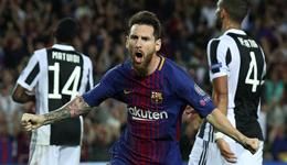 2017欧冠巴萨主场3-0尤文 梅西2球灭布冯保利尼奥替补