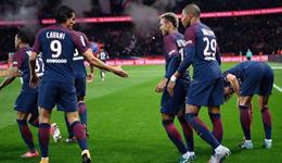 内马尔哑火卡瓦尼姆巴佩各造乌龙 巴黎2-0里昂