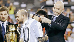 FIFA主席称梅西没有世界杯冠军是不公平 梅西应该获得世界杯冠军