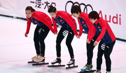 中国短道速滑接力夺金 韩国队对比赛结果很失望