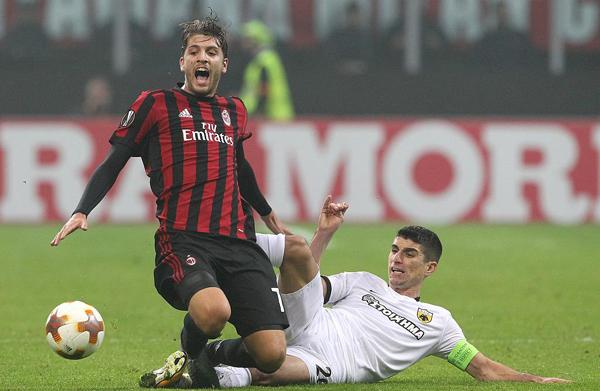 欧联库特罗内进球无效 米兰0-0雅典AEK继续领跑