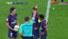 内马尔破门+染红卡瓦尼任意球救主 法甲巴黎2-2马赛
