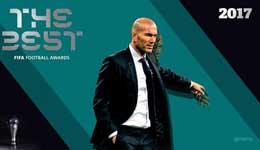 齐祖荣膺FIFA年度最佳主帅 欧冠2连冠KO孔蒂阿��