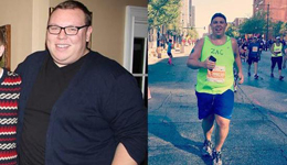 男子高中出柜变肥胖 靠跑步减肥134斤