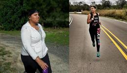 肥胖致多病缠身 女子靠跑步怒减136斤