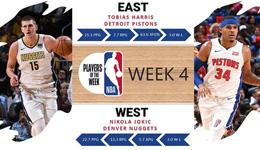 NBA东西部周最佳 哈里斯携手约基奇当选