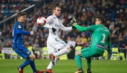 国王杯-贝尔伤愈替补造两球 皇马4-2丙级队晋级
