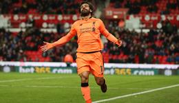 英超-马内传射建功萨拉赫两球 利物浦3-0斯托克城