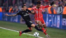 欧冠-托利索双响姆巴佩破门 拜仁3-1巴黎携手出线