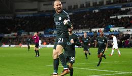 英超-席尔瓦两球阿圭罗破门 曼城4-0豪取15连胜