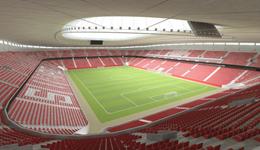 上港新主场效果图曝光 看台到球场距离只有10米