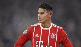 拜仁宣布J罗小腿肌肉受轻伤 将短暂缺席几天训练