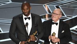 《亲爱的篮球》获最佳动画短片奖 科比折桂奥斯领取小金人