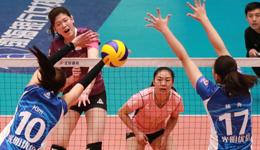 女排决赛天津3-1上海再下一城 李盈莹31分得分王