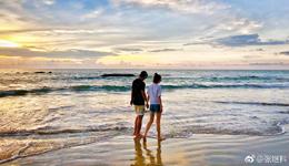 张继科晒与景甜海边手拉手甜蜜照 张继科正式公开恋情