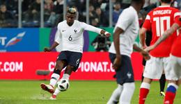 博格巴任意球姆巴佩双响 热身赛-法国3-1俄罗斯