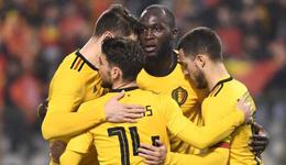 卢卡库梅开二度丁丁传射 热身赛-比利时4-0沙特