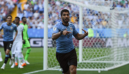 2018俄罗斯世界杯A组 苏神百场破门乌拉圭1-0沙特