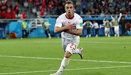 2018俄罗斯世界杯E组 瑞士2-1逆转塞尔维亚